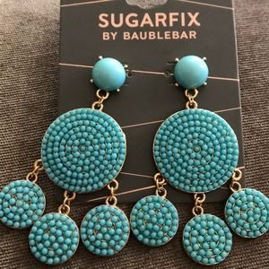 Turquoise fiesta earrings